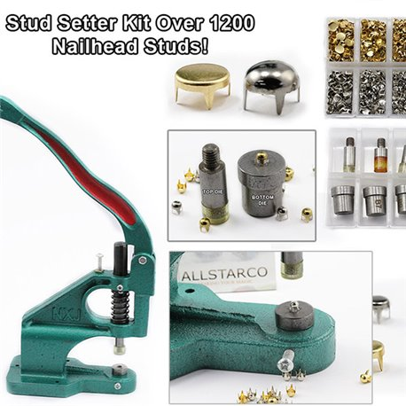 Starter Kit - Stud Setter Plus Over 1200 Gold, Silver, Spot, Pearl Studs.