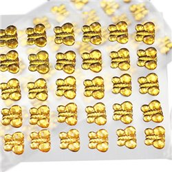 Stick On Butterfly Gems 10mm 1 Sheet / 50 Pcs
