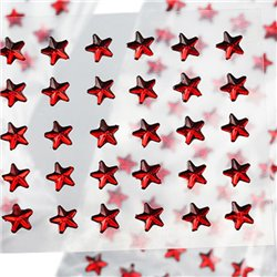 Stick On Star Gems 6mm 1 Sheet / 50 Pcs