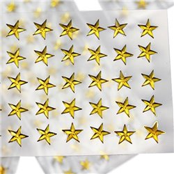 Stick On Star Gems 8mm 1 Sheet / 50 Pcs