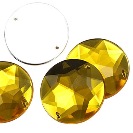 "Sew On Large Gems Flat Back 32mm Round / 1-1/4"" 5 Pcs"