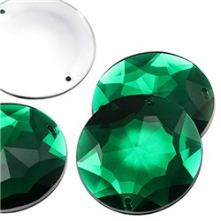 "Sew On Extra Large Gems Flat Back Round 43mm / 1-11/16"" 4 Pcs"