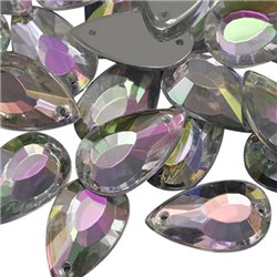Sew On  Teardrop Acrylic Gems Flat Back 18x11mm 20 Pcs