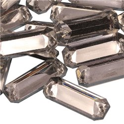 Sew On  Baguette Acrylic Gems Flat Back 19x7mm 50 Pcs