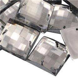 A Coudre  Carr� Acrylique Gemmes Dos Plat 10mm 80 Msx