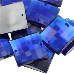 Sew On  Square Acrylic Gems Flat Back 12mm 60 Pcs