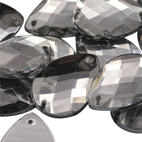 Sew On  Teardrop Acrylic Gems Flat Back 18x13mm 50 Pcs