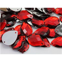 Sew On  Teardrop Acrylic Gems Flat Back 18x13mm 50 Pcs