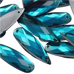 Sew On  Teardrop Acrylic Gems Flat Back 28x8mm 30 Pcs