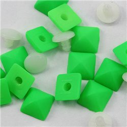 Plastic Pyramid Studs with Nail 8mm 50 Pcs
