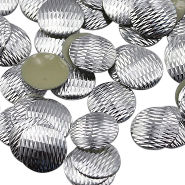 or Glue On Crafts Iron On DIY Studs 1200 PCS Mother of Pearl Metal Tone Round Studs 6 mm Hot Fix
