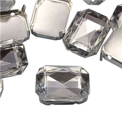 Fancy Gems & Cup Settings Octagon 18x13mm 12 Pcs
