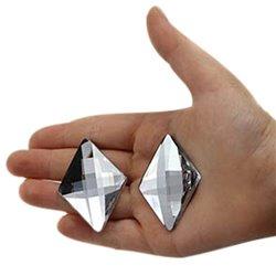 Diamant Acrylique Gemmes Dos Plat 42x30mm