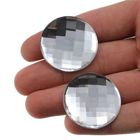Round Acrylic Gems Flat Back 35mm 6 Pcs