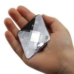 "Giant Diamond Gems Flat Back 67x48mm / 2-58 x 1-7/8"" 2 Pcs"