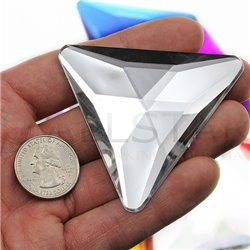 "Giant Triangle Gems Flat Back 68mm / 2-11/16"" 2 Pcs"