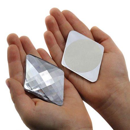 "Self Adhesive Giant Diamond Gems Flat Back 67x48mm / 2-5/8 x 1-7/8"" 1 Pc"