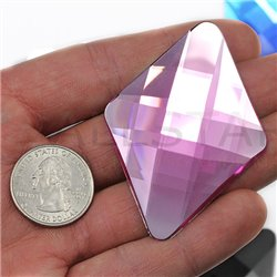 "Self Adhesive Giant Diamond Gems Flat Back 67x48mm / 2-5/8 x 1-7/8"" 1 Pc"
