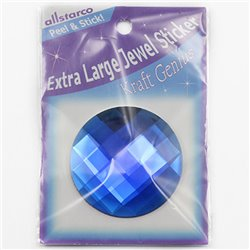 "Self Adhesive Extra Large Round Gems FB 60mm / 2-3/8""1 Pc"