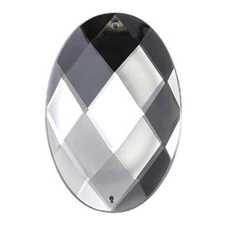 A Coudre Ovale Acrylique Gemmes Dos Plat 62x42mm