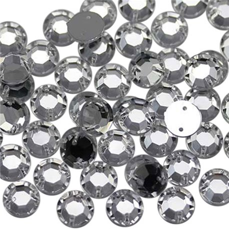 Sew on Acrylic Rhinestones SS46 10mm 70 Pcs