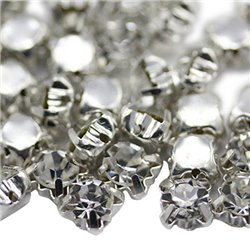 Sew On Crystal Diamante Rhinestone SS30 6mm 100 Pcs