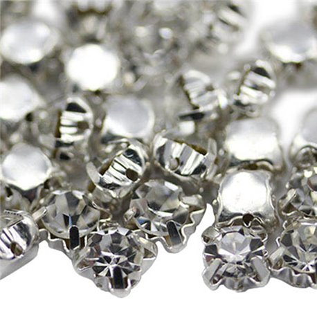 Sew On Crystal Diamante Rhinestone SS30 6mm 25 Pcs