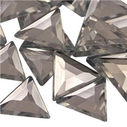Triangle Acrylic Gems Flat Back 13mm 50 Pcs