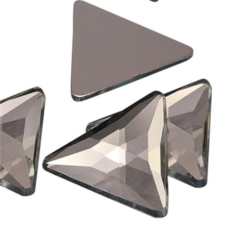 Triangle Acrylic Gems Flat Back 23mm 14 Pcs