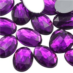 Oval Acrylic Gems Flat Back 14x10mm  45 Pcs