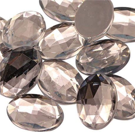 Oval Acrylic Gems Flat Back 18x13mm  35 Pcs