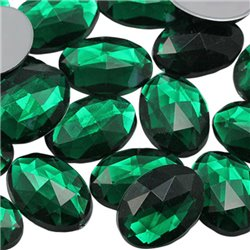 Oval Acrylic Gems Flat Back 25x18mm  20 Pcs