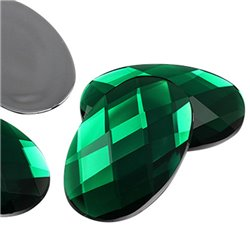 "Extra Large Oval Gems Flat Back 50x33mm / 2 x 1-1/4"" 4 Pcs"