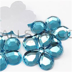 Flower Acrylic Gems Flat Back 25mm 15 Pcs