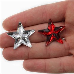 "Large StarJewels Flat Back 31mm / 1-1/4""  6 Pcs"