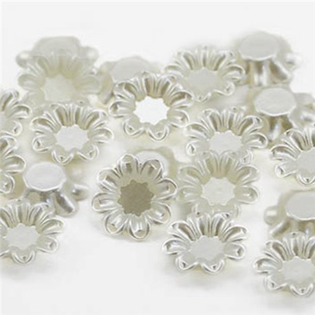 20mm Pearl Flower Cups 20 Pcs