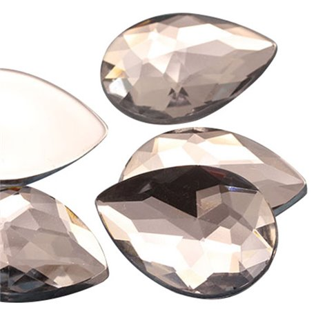 Teardrop Acrylic Gems Flat Back 18x13mm 30 Pcs
