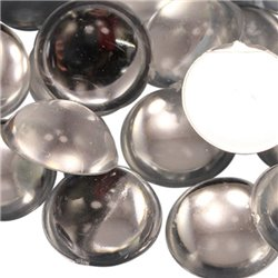 Acrylic Round Cabochons Flat Back 15mm 30 Pcs