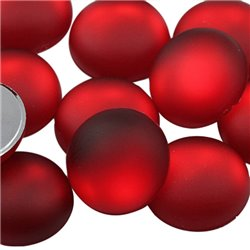 Frosted Acrylic Round Flat Back Cabochons 18mm 20 Pcs
