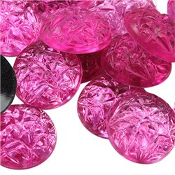 Baroque Acrylic Flat Back Cabochons 18mm 25 Pcs