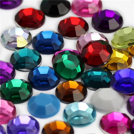 Flat Back Acrylic Rhinestones in Bulk 8mm Assorted Colors Embelishments 400 Pcs