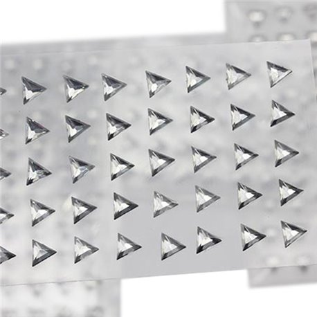 Auto-adh�sif Triangle Gemmes 6mm 1 Sheet / 50 Msx