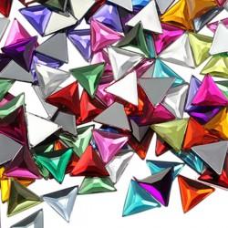 Triangle Acrylique Gemmes Dos Plat 13mm