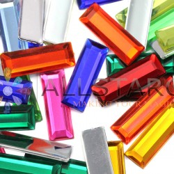 Baguette Acrylic Gems Flat Back 22x7mm 40 Pcs