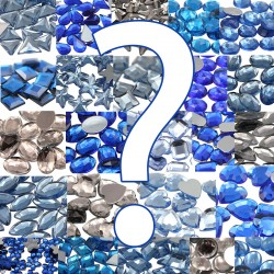 Blue Ice Queen Cosplay Mystery Package Flat Back Acrylic Rhinestones