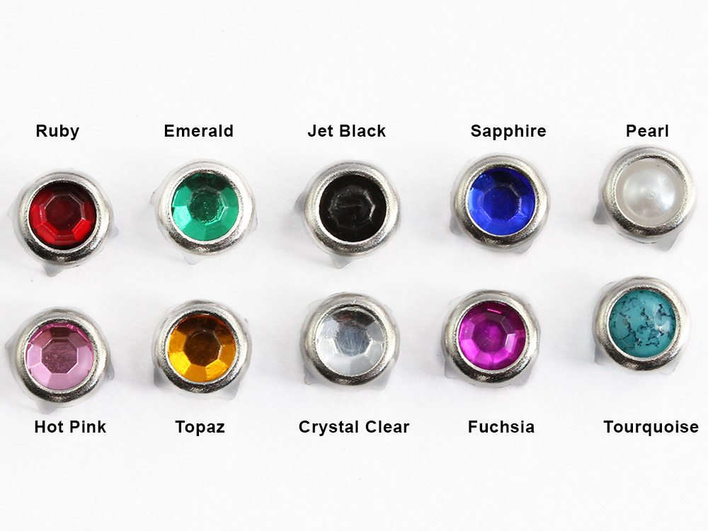 bedazzler studs assorted colors