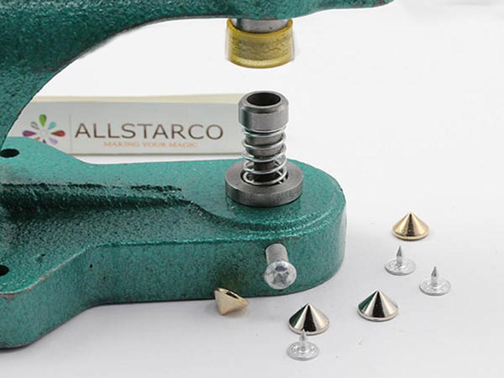 jean spike studs nailheads setter kit embelish tool handpress allstarco