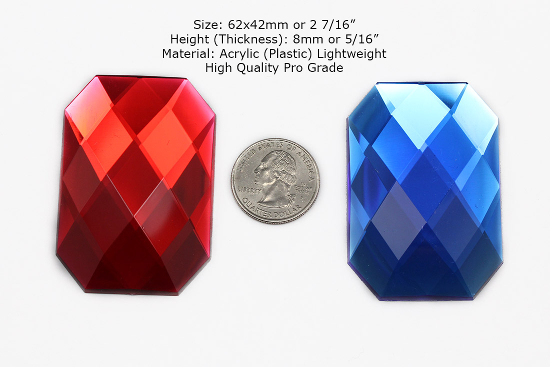 red and blue octagon costume gems extra large