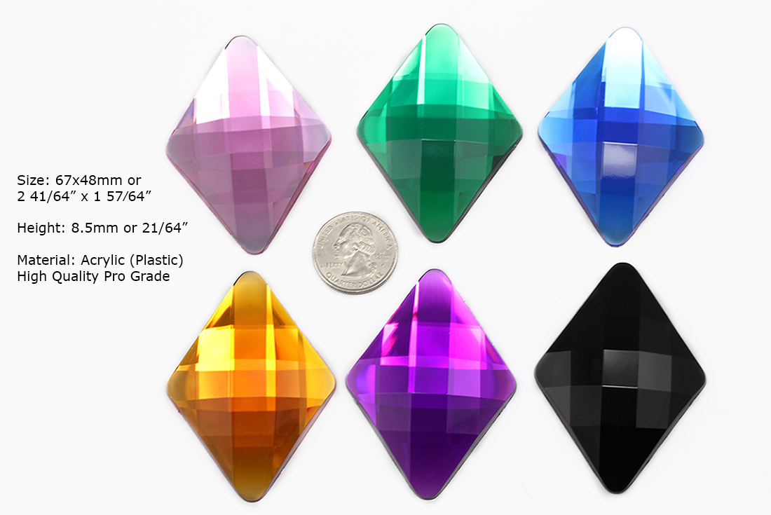 diamond flat back gems
