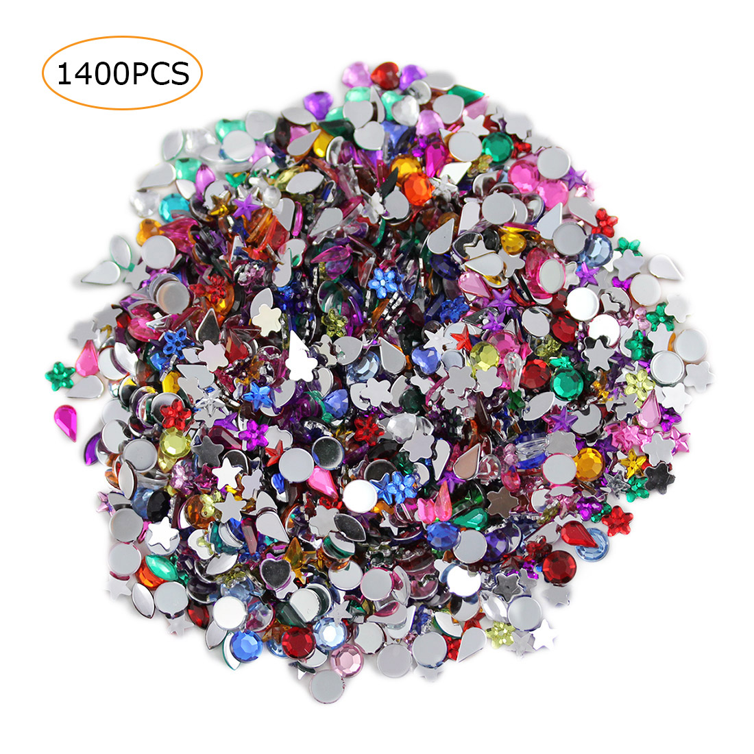 acrylic gems in bulk assorted colors shapes